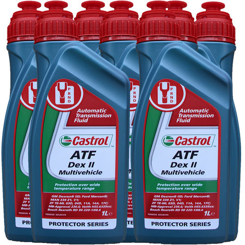 7 X 1 Liter Castrol ATF Dex II Multivehicle - Automatik Getriebeöl