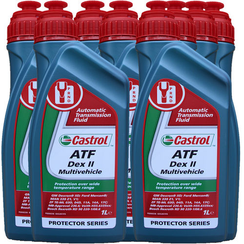 8 X 1 Liter Castrol ATF Dex II Multivehicle - Automatik Getriebeöl