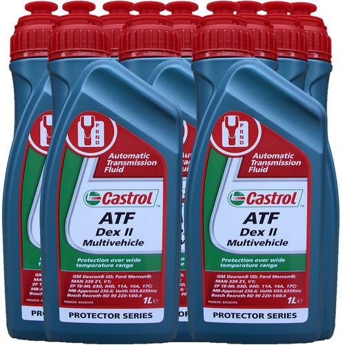 9 X 1 Liter Castrol ATF Dex II Multivehicle - Automatik Getriebeöl