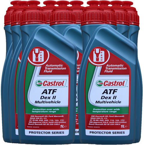10 X 1 Liter Castrol ATF Dex II Multivehicle - Automatik Getriebeöl