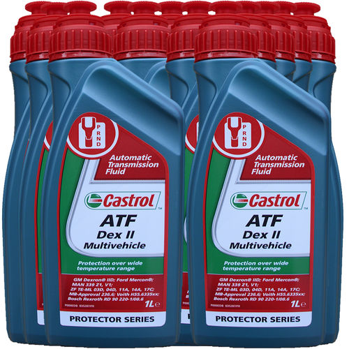 12 X 1 Liter Castrol ATF Dex II Multivehicle - Automatik Getriebeöl