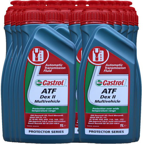 15 X 1 Liter Castrol ATF Dex II Multivehicle - Automatik Getriebeöl