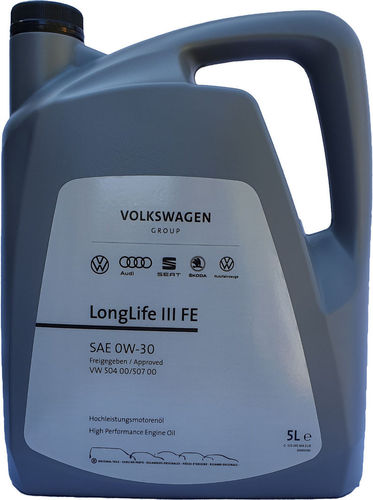 VW Original 0W-30 Longlife III FE VW 50400 50700 5 Liter