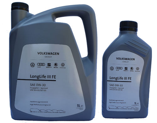 VW Original 0W-30 Longlife III FE VW 50400 50700 5+1 Liter