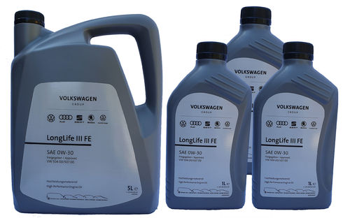 VW Original 0W-30 Longlife III FE VW 50400 50700 5+3 Liter