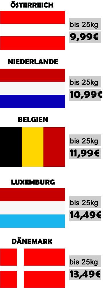 Versandkosten Europaweit