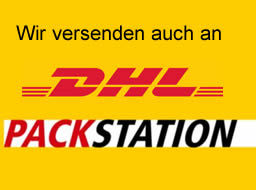 Wir versenden auch an DHL Packstationen